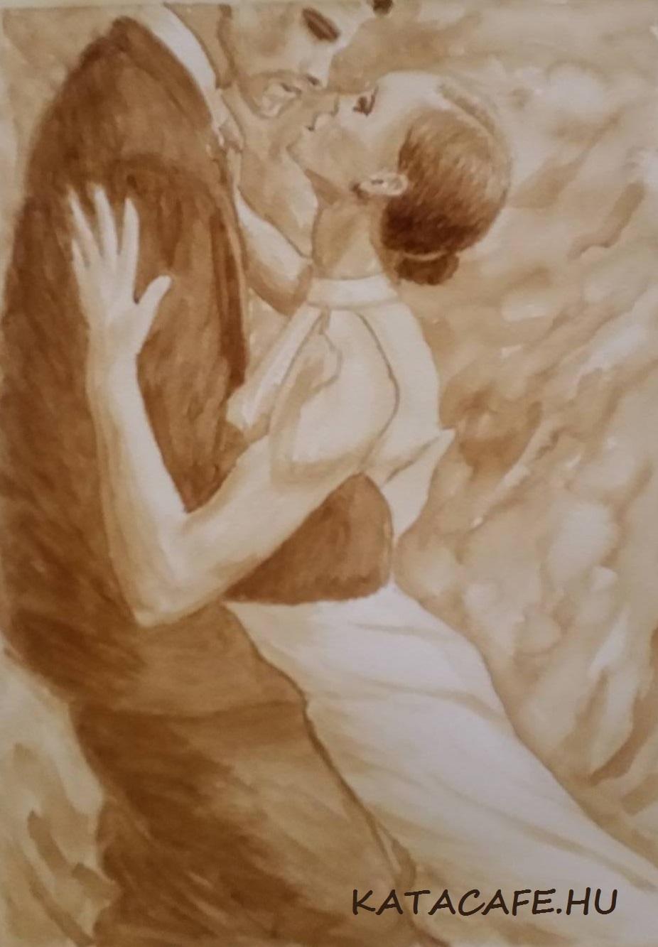 http://katacafe.hu/, Kajáriné Katalin, kávéfestmény, ganoderma gomba, coffeart, coffeelove, egészség, egészséges kávé, szenvedély, szerelem, tánc, ölelés, öszhang, harmónia