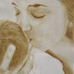 anyai szeretet, csoda, kávéfestmény, kávéval festet kép, coffeeart, coffeelove, kávészenvedély, kávészerelem, ganoderma, katacafe,