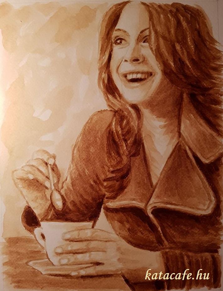 kávéöröm, http://katacafe.hu/ , Kajáriné K.V. Katalin, kávéfestmény, coffeeart, coffeelove, ganodermás kávé, szívbarátkávé, egészségeskávé, wellnesskávé,