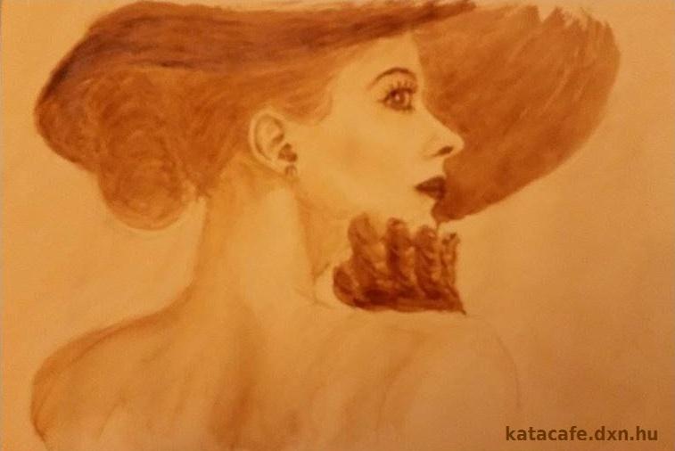 kávéfestmény, http://katacafe.hu/ , Kajáriné K. V. Katalin, szívbarát kávé, ganodermás kávé, egészséges kávé, büszkeség, egészség, szépség, bőség,