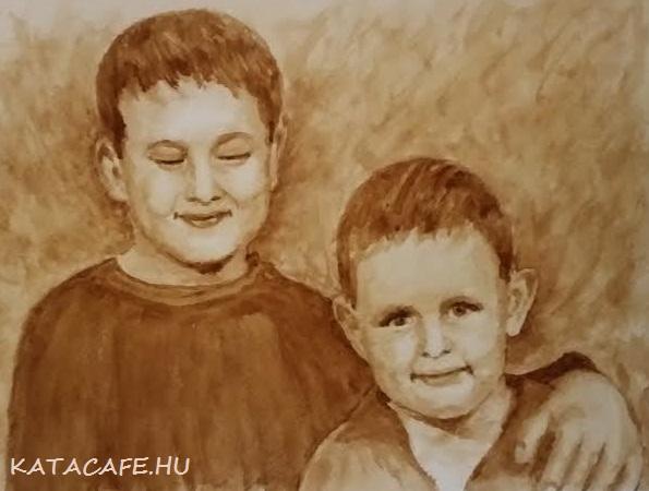 Kávéfestmény, portré, művészet, http://katacafe.hu/ , karácsonyiajándék, szívbarátkávé, ganodermás kávé, egészség, bőség, kávéüzlet, pénz, szépség,